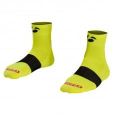 """Meias Bontrager Race 2.5"""" (6 cm) L (43-45) Amarelo Fluorescente"""