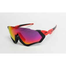 OAKLEY FLIGHT JACKET - PRIZM ROAD - BLACK RED