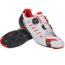 Sapatos SCOTT ROAD TEAM BOA gloss white/neon red