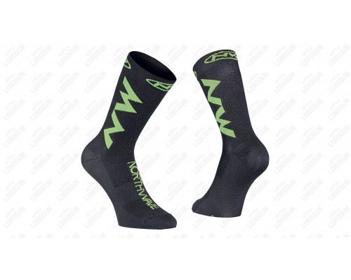 MEIAS NW EXTREME AIR BLK/YLW